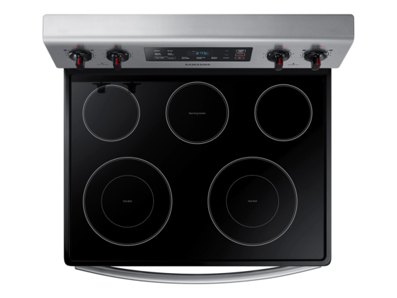 05_Range_Electric_NE59M4310SS_Top-View_Cooktop_Elements-Burners_Silver