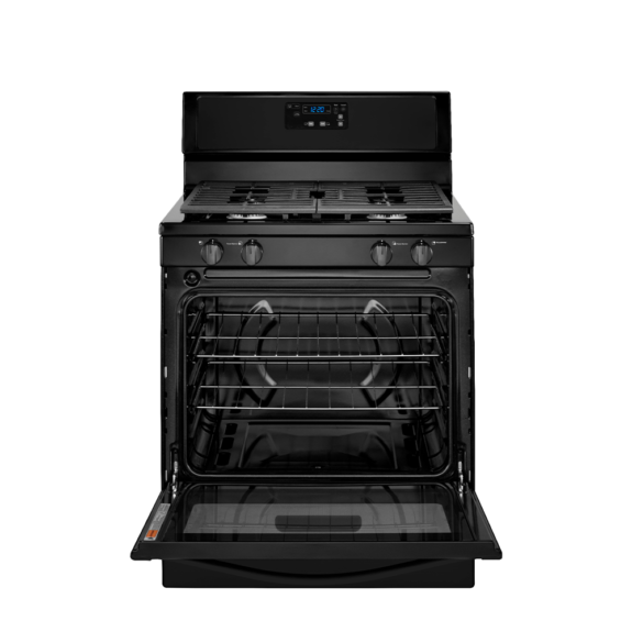 whirlpool 5.1 cu range with under oven broiler black ad1