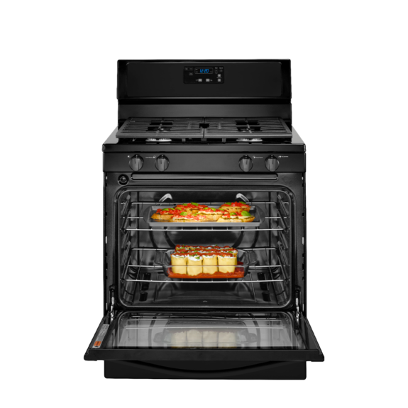 whirlpool 5.1 cu range with under oven broiler black ad3