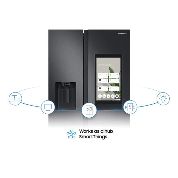 Samsung 27 Cubic Side By Side with Smart Hub Refrigerator 8